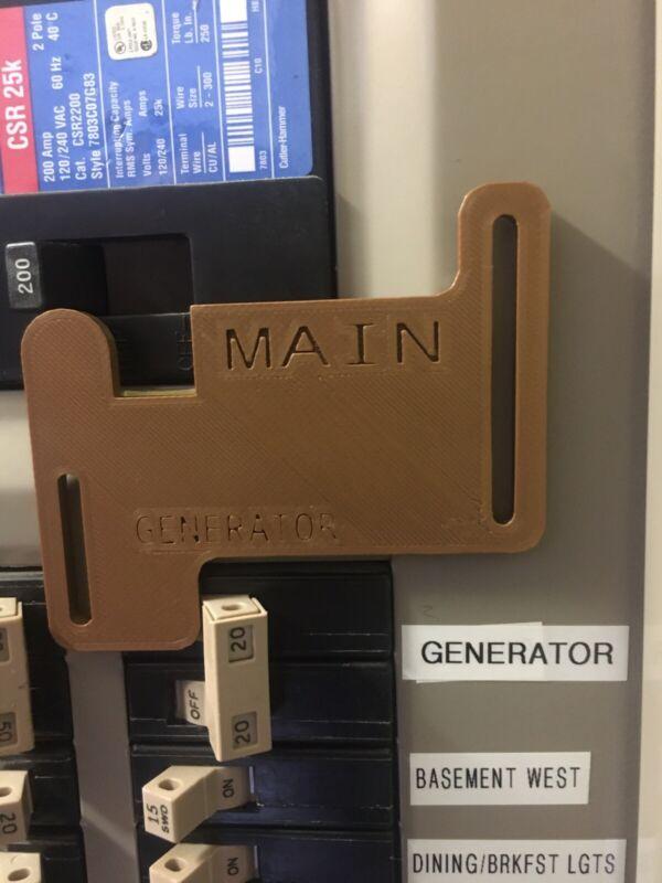 Generator Interlock Kit for Cutler Hammer 200A Breaker Panel - Perfect For DIYer