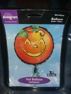 Anagram Halloween Balloons (Brand new Halloween foil party balloons, anagram large pumpkin head one large)