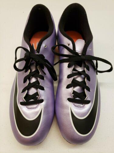 New Nike Mercurial Vortex II FG Soccer Cleats Shoes Purple 651647-580 Size 8
