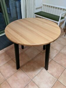 IKEA Gamlared table - small dining table with timber top & black legs