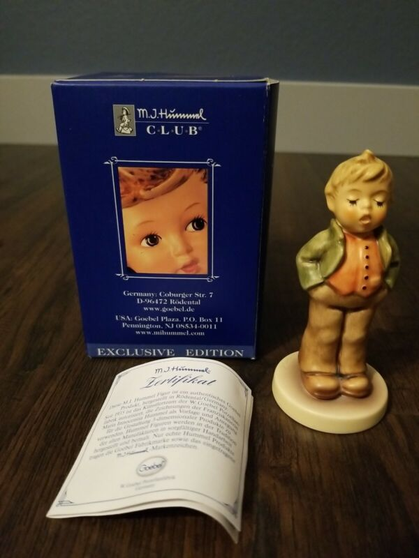 "Hummel Figurine #848 ""ERSTER TENOR STEADFAST SOPRANO"" Hummel Club WITH BOX*NICE*"