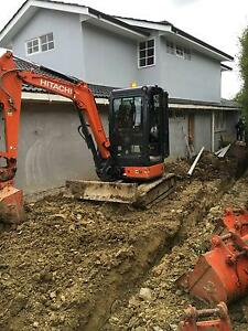 excavator hire 3T & 1.7T mini excavators all areas dry/wet hire Bayswater Knox Area Preview
