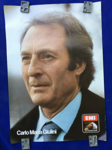 large EMI vintage POSTER classical music CARLO MARIA GIULINI promotion record
