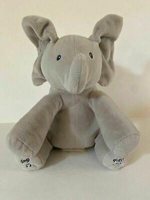 Baby Gund Flappy The Elephant Animated Plush Infant Toy WORKS VERY WELL