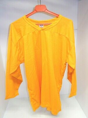 f25806cf7 SP APPAREL ADULT MENS MEDIUM ICE HOCKEY JERSEY ~ YELLOW / GOLD ~ MADE IN  CANADA
