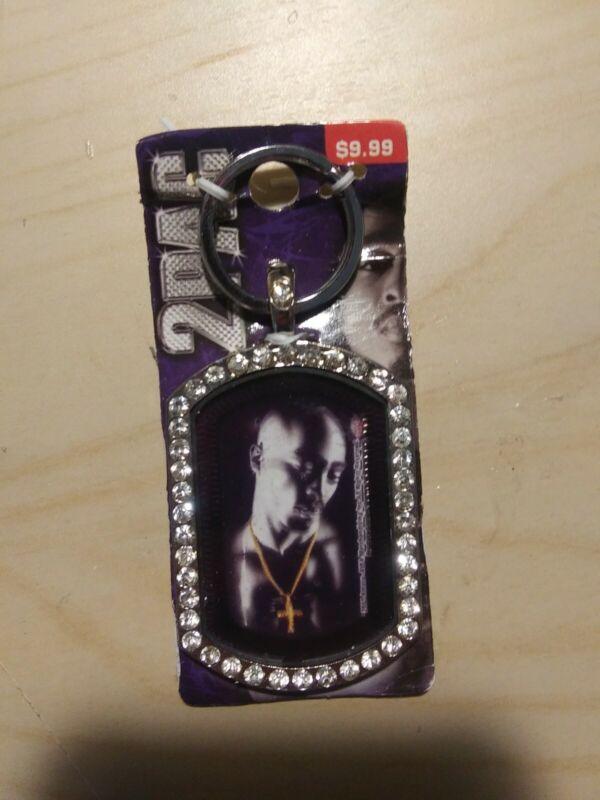 2Pac Tupac Shakur Bling Keychain Key Ring 2007 Hip Hop Legend