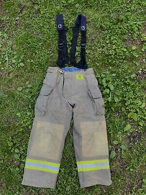 Morning Pride Fire Fighter Turnout Pants 38x30 Bunker Gear 2790