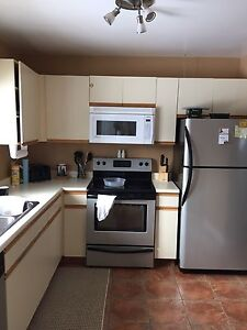 Older style kitchen with counter top