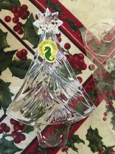 Waterford Christmas Tree Ornament Lead Crystal Made in Germany 2011