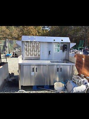 Industrial Lab Table Sink .w Hood Stainless Steel