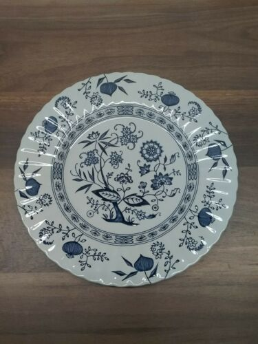 """Vintage J & G MEAKIN Classic Blue Nordic 10"""" Dinner Plate England Ironstone"""