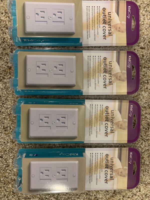 KidCo Universal Outlet Cover - Lot Of 4 - White