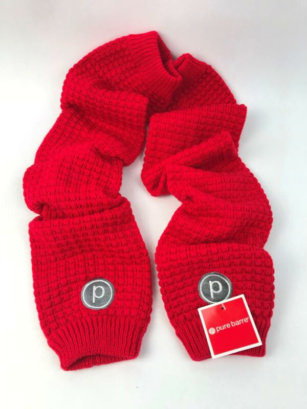"Pure Barre Leg Warmers for Barre Yoga Dance Gym in Red - One Size/ 28"" Long -NEW"