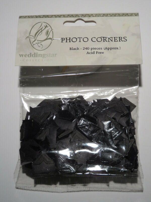 Vintage WEDDING STAR Collection Photo/Scrapbook Mounting Corners - Black