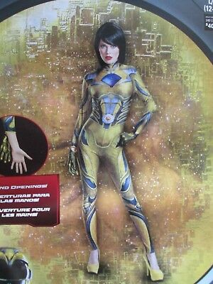 NIP-Women's Adult Cosplay/Costume-Power Rangers Bodysuit-Yellow Sz Choice:M or L - Powerful Women Costumes