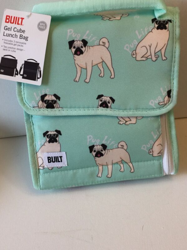 SPECIAL CLEARANCE PRICED Pug Gel Cube Lunch Bag