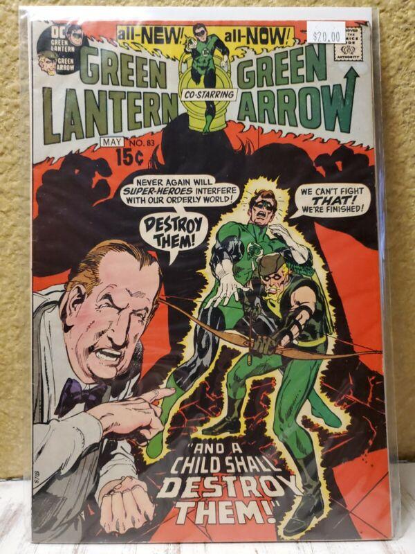 Green Lantern #83 FN+ Adams, Green Arrow, Carol Ferris