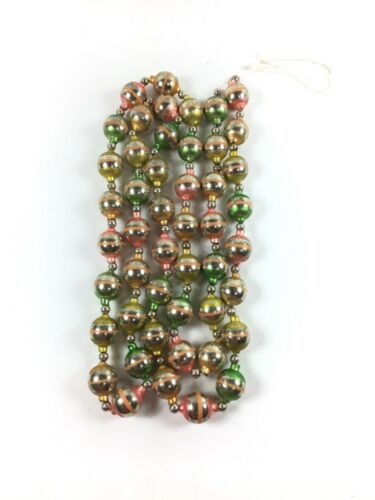 Vintage Mercury Glass Ball Garland Christmas
