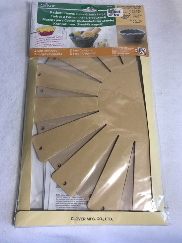 Clover Basket Making Frames Round Extra Large #8426 Contains 2 Sets NIP