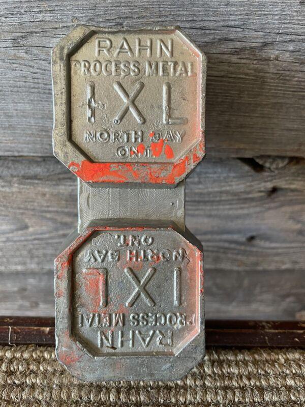 Vintage Lead Bar Rahn Process Metal North Bay Ontario