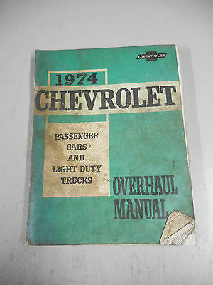 Vintage Auto Manual   Chevrolet Cars And Trucks   Overhaul Manual  St 333 74