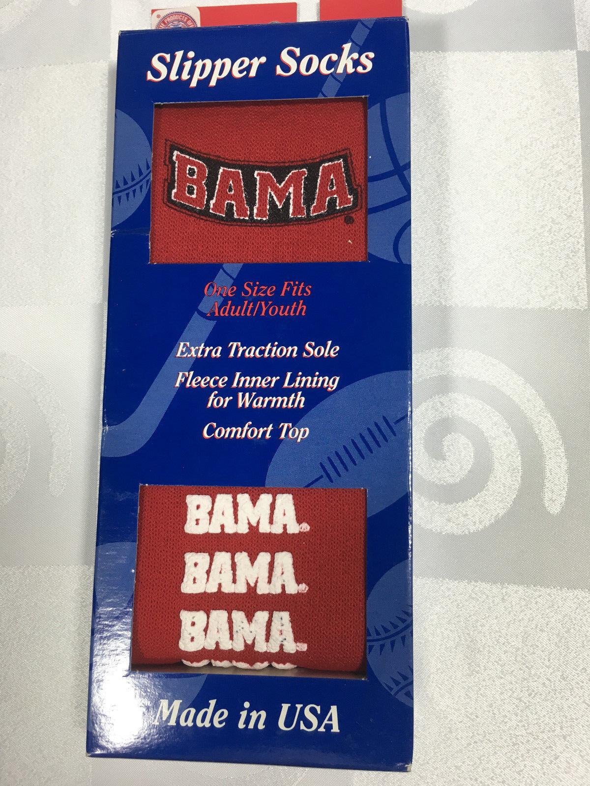 "ALABAMA  CRIMSON NATIONAL CHAMPS ""BAMA"" Slipper Socks Unisex One Size Fits  USA Clothing, Shoes & Accessories"