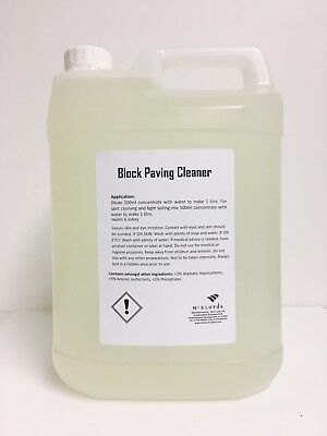 Block Paving Cleaner & Oil Stain Remover | 5 Litres.