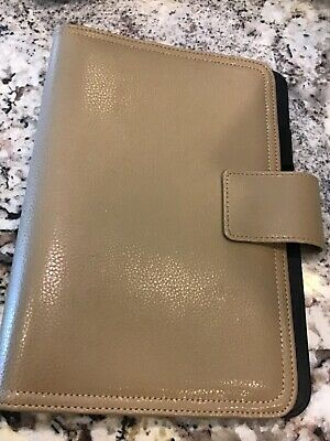 Franklin Covey Full Grain Leather Camel Tan 7 Ring Snap Binderplannerorganizer