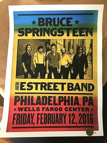 ORIGINAL BRUCE SPRINGSTEEN Philadelphia PA 2016 RIVER TOUR LTD #450 POSTER PRINT