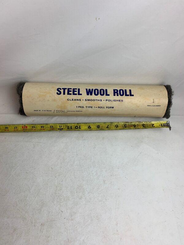 1 lb Stainless Steel Wool Roll - Medium Vintage