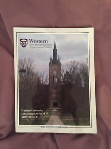 Introduction to MOS 2 Western University