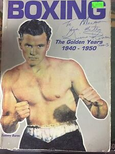 ANTIQUE AUTOGRAPHED BOXING MAGAZINES  SIGNED BY THE LATE LIONEL ROSE Melbourne CBD Melbourne City Preview