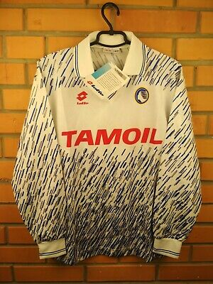 Atalanta Jersey 1991 1992 Away S Long Sleeve Shirt Deadstock Soccer Lotto Trikot image
