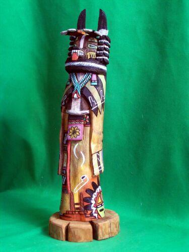 Hopi Kachina Doll - Hon, the Bear Kachina by Wally Grover - Dramatic!