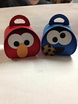 Sesame Street Elmo or Cookie Monster Treat Boxes - you fill (Curvy Keepsake Box)