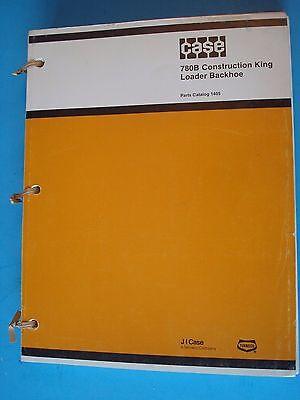 Case 720b Construction King Loader Backhoe Parts Catalog Manual 1405 1981