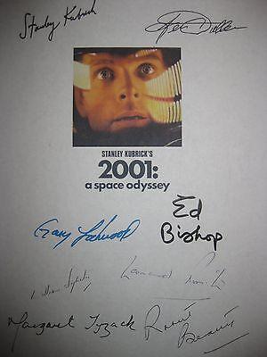 2001 Space Odyssey Signed Script X8 Stanley Kubrick Keir Dullea Gary Lockwood rp