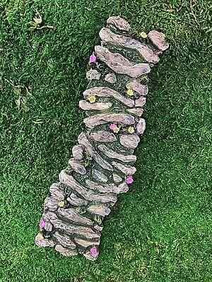 Miniature Dollhouse FAIRY GARDEN ~ Mini Resin Flower Curved Path -