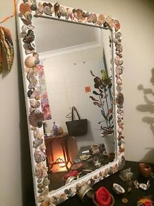 Beautiful mirror with shell frame Southport Gold Coast City Preview