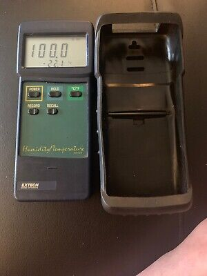 Extech Instruments Humidity Temperature Meter W Case L636458 - Turns On