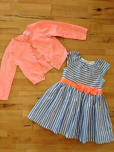EUC Carters 18 months dress and 24 months cardigan