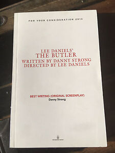 Lee Daniels The Butler Oscar consideration script. RARE!