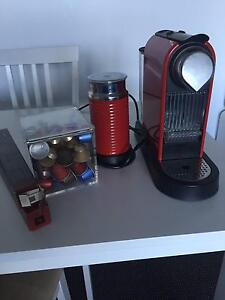 Nespresso Machine with Frother and Pods Waterloo Inner Sydney Preview