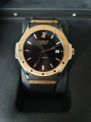 HUBLOT CLASSIC 18K ROSE GOLD BEZEL,1915.NE10.7 with BOX and FULL PAPERS, 41.4MM