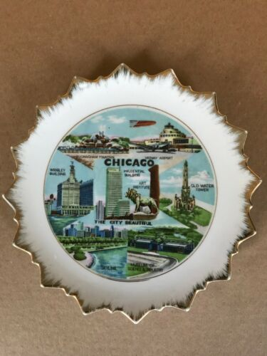 Chicago Illinois Souvenir and collectible plate decorative 8 Inch