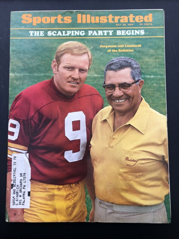 July 28, 1969 Sports Illustrated Vince Lombardi Sonny Jurgensen Redskins