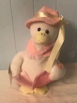 CHANTILLY LANE GOODNIGHT GOOSE PINK BABY GIRL MOVES & SINGS PLUSH DOLL - Chantilly Lane Singing Dolls