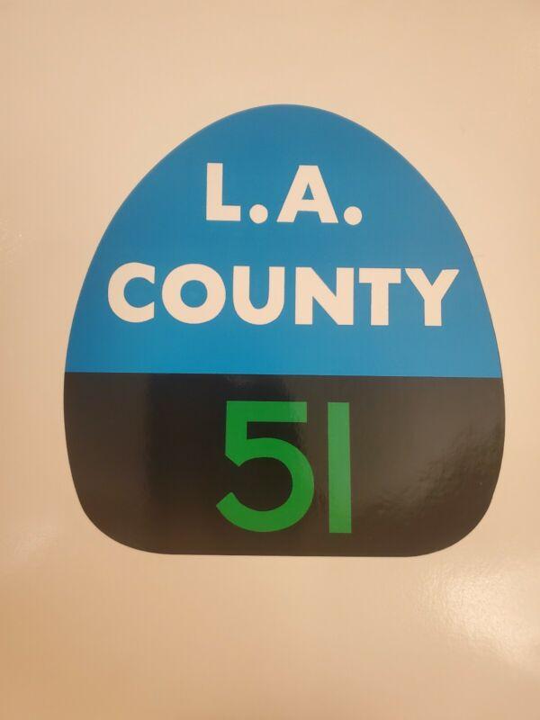 """LA COUNTY 51 """"EMERGENCY 51"""" FIRE Sticker Decal"""