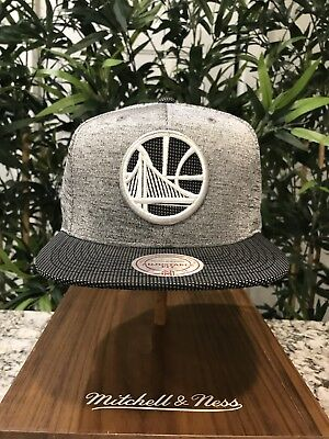 separation shoes 86161 f99e3 Mitchell and Ness Golden State Warriors Space Knit SnapBack Hat supreme BBC  NBA