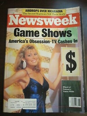 Newsweek Magazine February 1987 Game Shows Vanna White Wheel Of Fortune